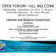 Open Forum between Lutherans and Anglicans – Wed, Nov 10
