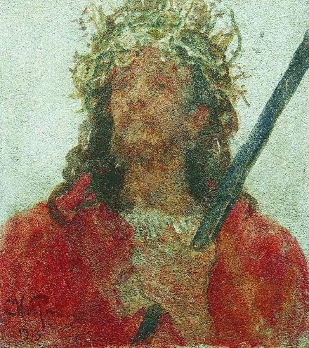 ilya-repin-christ-wearing-the-crown-of-thorns-1913