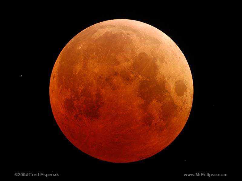 Total Lunar Eclipse, 2004. Photo credit: Fred Espenak