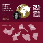 World Vision policy adviser to speak on religious persecution