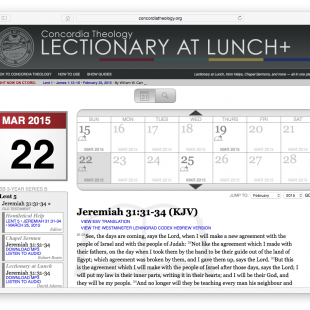 Lectionary@Lunch Live in the Spring